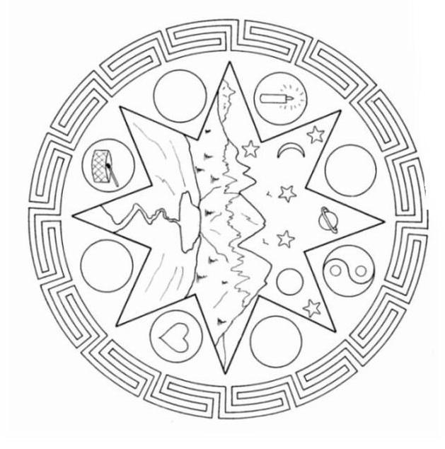 Mandala da colorare 69