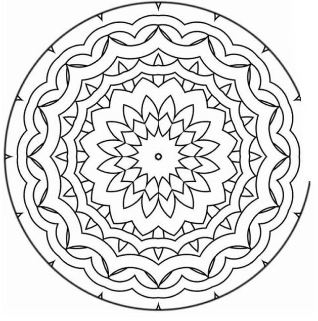 Mandala da colorare 76