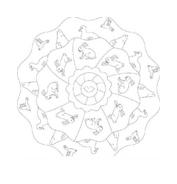 Mandala da colorare 100
