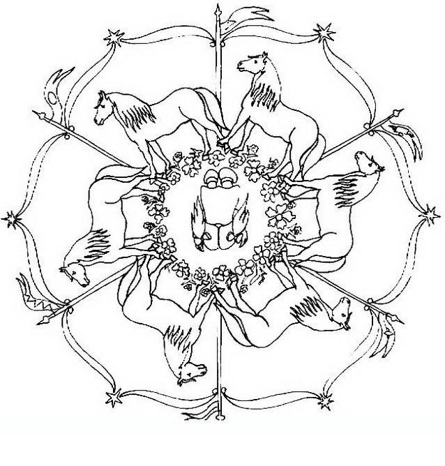 Mandala da colorare 112