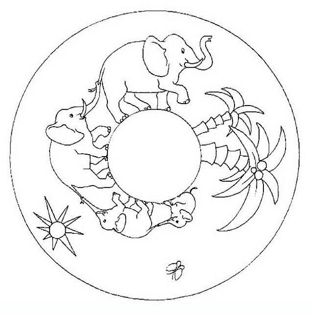 Mandala da colorare 133