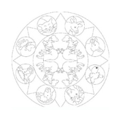 Mandala da colorare 138