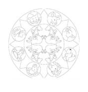 Mandala da colorare 138