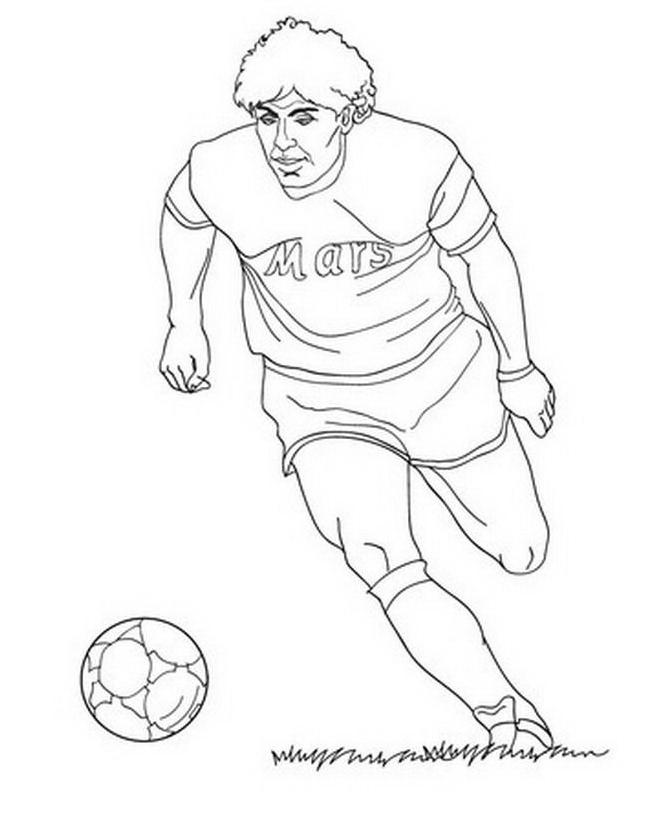 Calcio da colorare 71