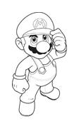 Mario bros da colorare 7
