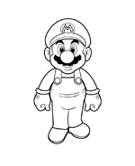 Mario bros da colorare 12