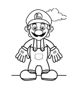 Mario bros da colorare 17