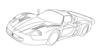 Automobile da colorare 316