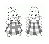 Max e Ruby da colorare 6