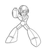 Megaman da colorare 3