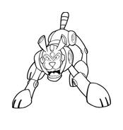 Megaman da colorare 7