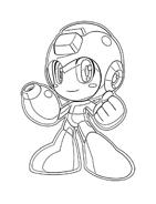 Megaman da colorare 12