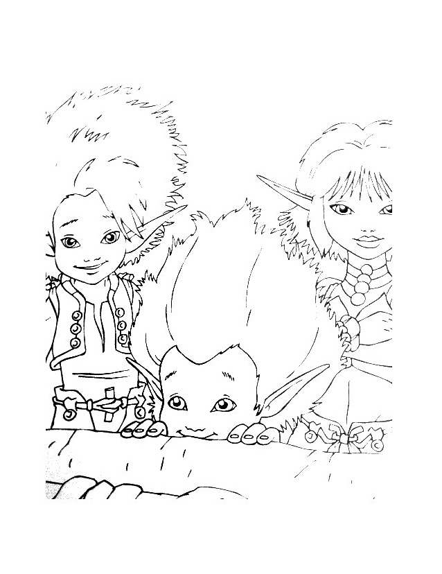 Arthur e minimei da colorare 151