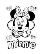 Minnie da colorare 97