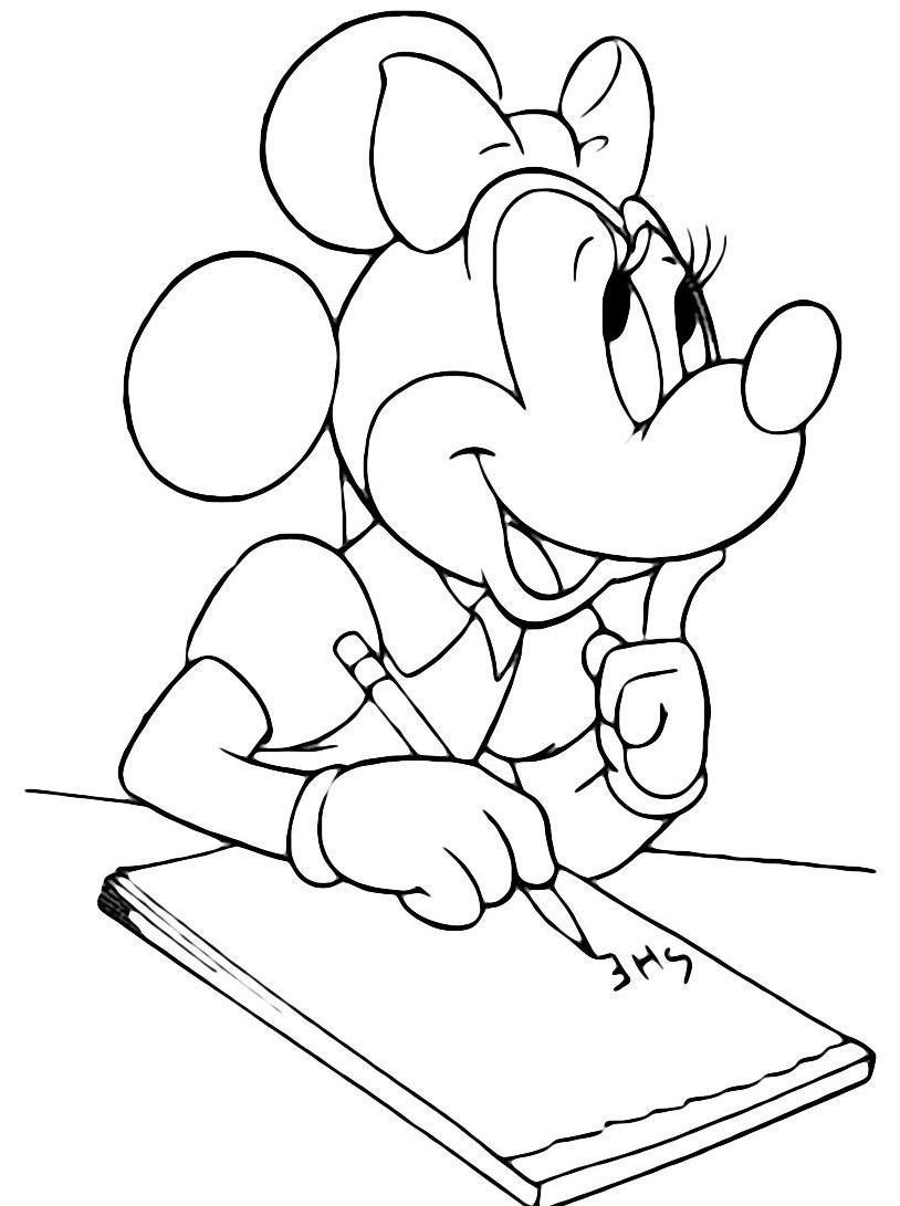Minnie da colorare 98