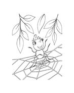 Miss spider da colorare 36