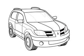 Automobile da colorare 345