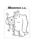Monsters e co da colorare 93