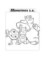 Monsters e co da colorare 96