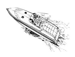 Nave e barca da colorare 71