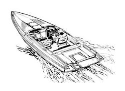 Nave e barca da colorare 72