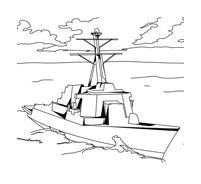 Nave e barca da colorare 74