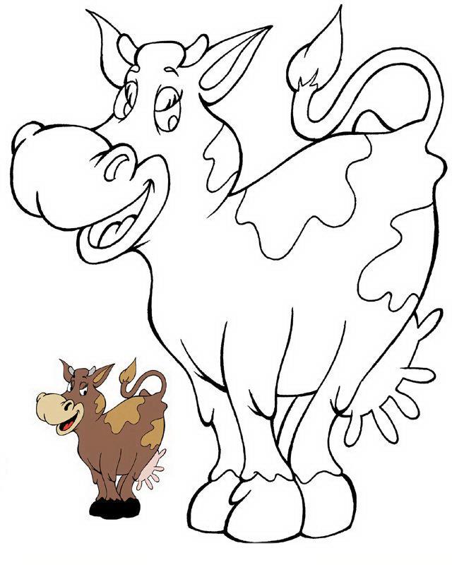 Mucca e bufalo da colorare 3