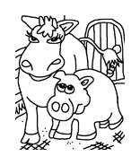 Mucca e bufalo da colorare 6