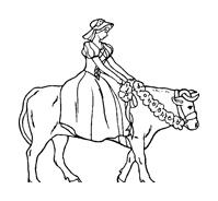 Mucca e bufalo da colorare 11