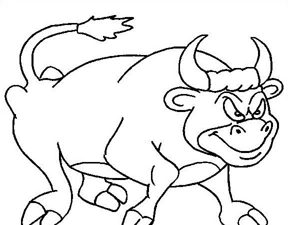 Mucca e bufalo da colorare 19