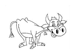Mucca e bufalo da colorare 22