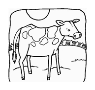 Mucca e bufalo da colorare 23