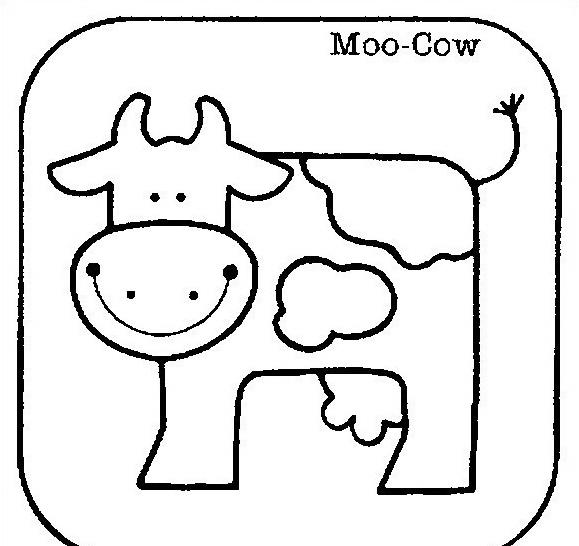 Mucca e bufalo da colorare 25