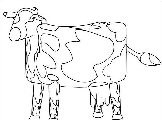 Mucca e bufalo da colorare 26