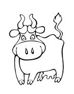 Mucca e bufalo da colorare 33