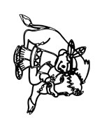 Mucca e bufalo da colorare 39