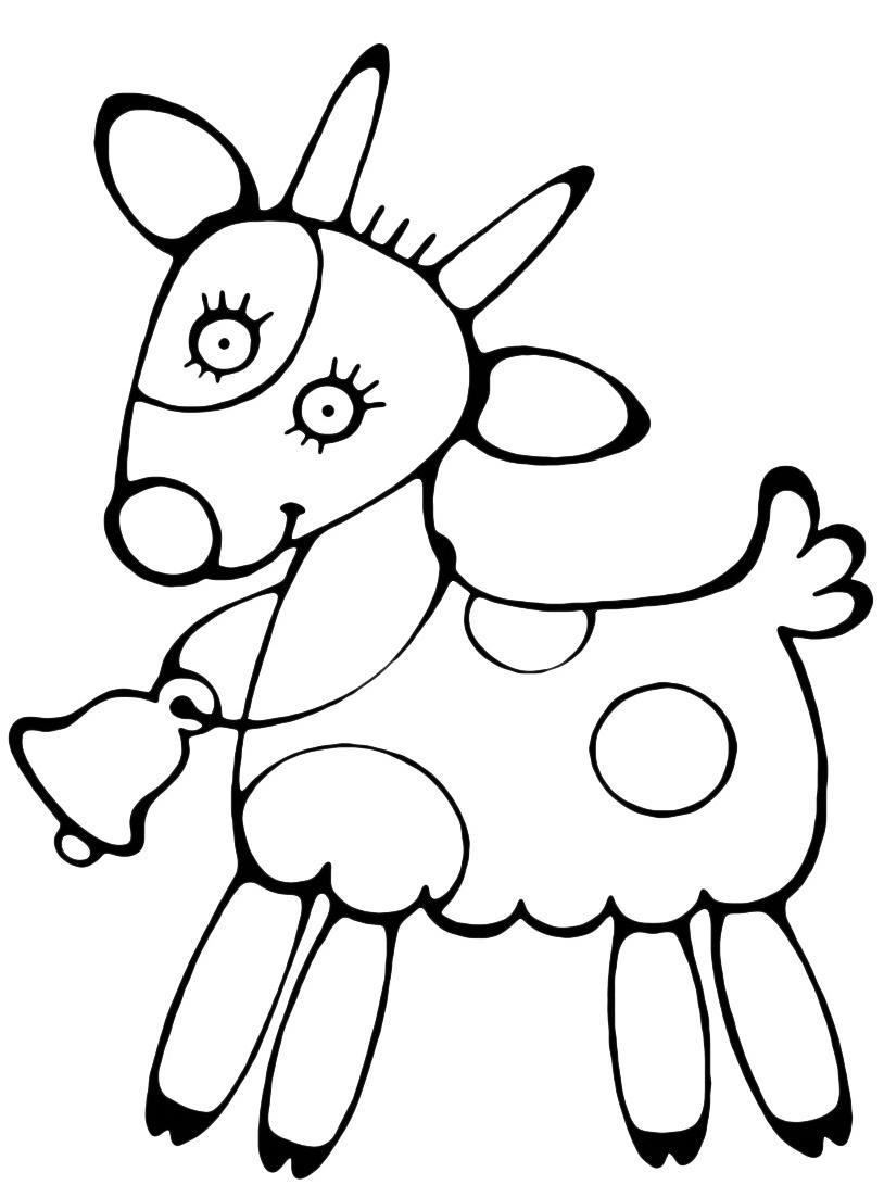 Mucca e bufalo da colorare 44