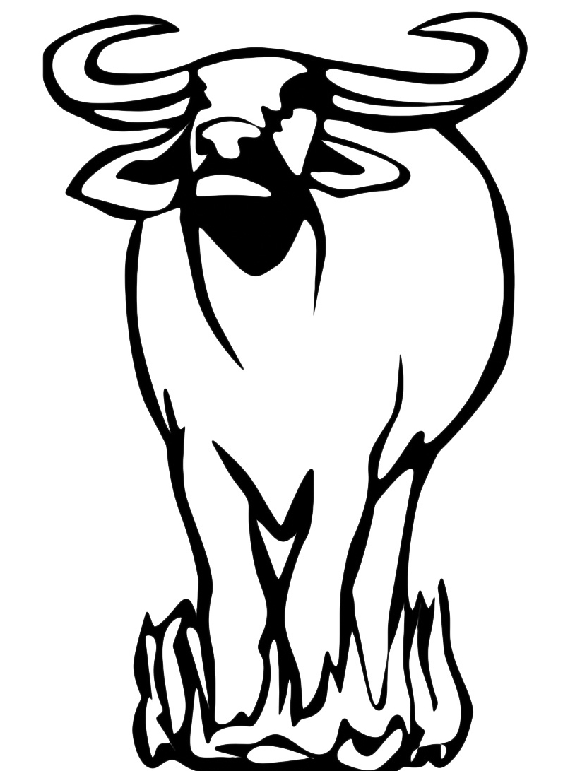 Mucca e bufalo da colorare 54
