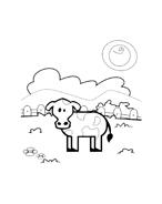 Mucca e bufalo da colorare 67