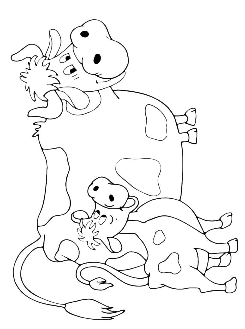 Mucca e bufalo da colorare 68