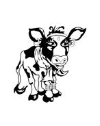 Mucca e bufalo da colorare 70
