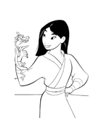 Mulan da colorare 91