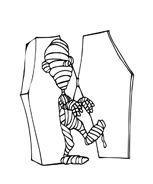 Mummia da colorare 3