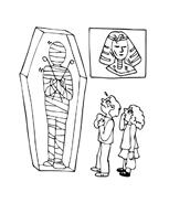 Mummia da colorare 5