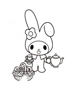 My melody da colorare 8