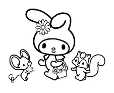 My melody da colorare 9