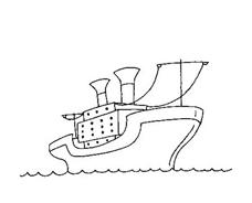 Nave e barca da colorare 75