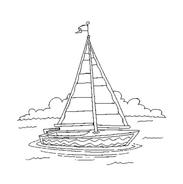 Nave e barca da colorare 76