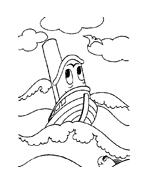 Nave e barca da colorare 77