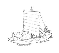 Nave e barca da colorare 78